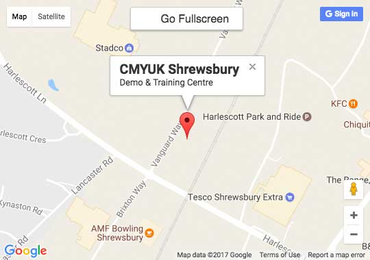 Google Map of CMYUK Demo & Training Centre, Shrewsbury