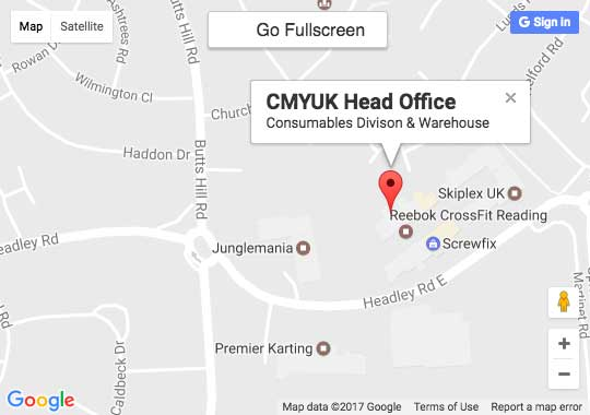 Google Map of CMYUK Head Office, Woodley, Berkshire
