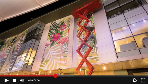 WATCH Epic building covering by Hollywood Monster using VUTEk printers supplied by CMYUK
