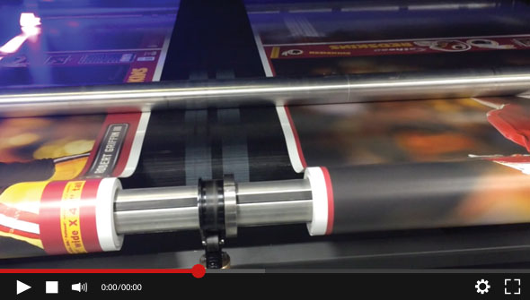 Watch the EFI VUTEk HSr Pro printing on two rolls