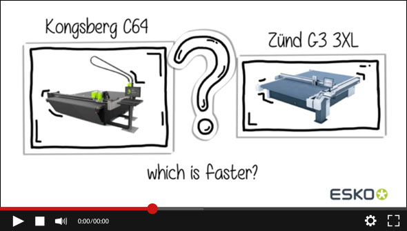 WATCH the Kongsberg C64 vs. Zund 3G 3XL. Which one is faster?