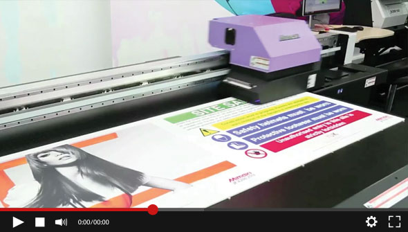 Mimaki JFX200 - Printing Pre-cut Boards demonstration