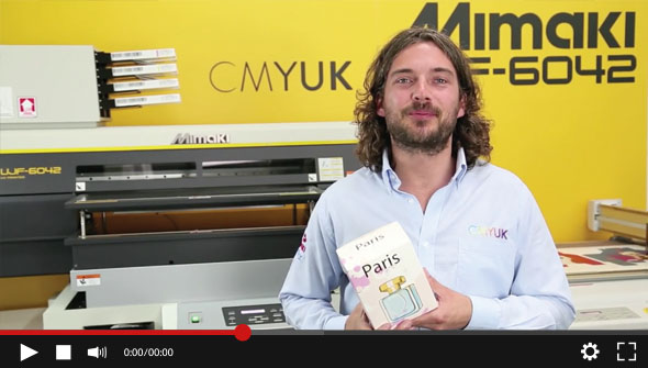 Mimaki UJF6042 & CFL605RT - Produce Short Run Packing demonstration