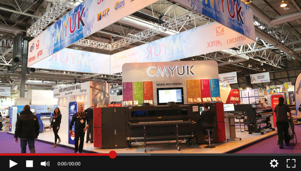 Watch the 2016 CMYUK Sign & Digital UK stand now - See the latest print technology