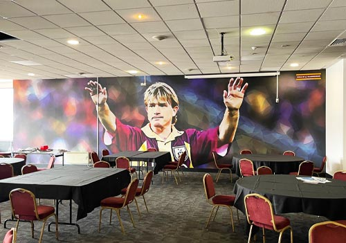 Nine new huge wall murals reveal club's past with a nod to an eco-aware future