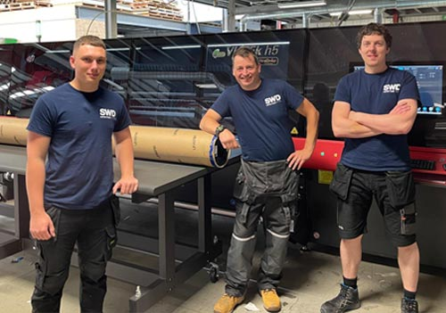 Left to right, Chris Doherty, Tristan Haslam, Adam Woodhouse. Our Super-Wide Format print team.