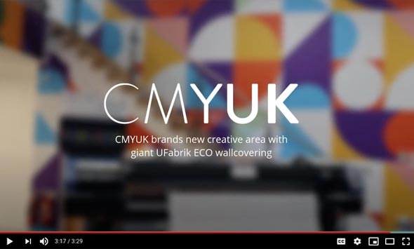 CMYUK brands new creative area with giant UFabrik ECO wallcovering